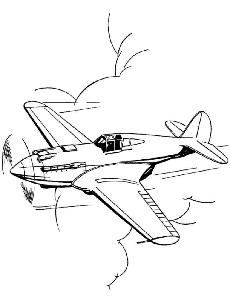 Plane coloring pages Free Printable Plane coloring pages