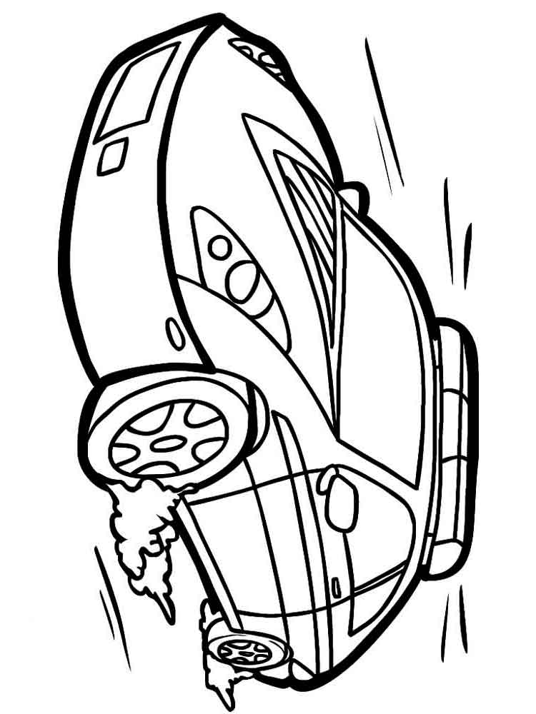police car coloring pages 2 - Car Coloring Page 2