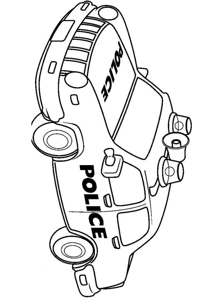 Police car coloring pages Download