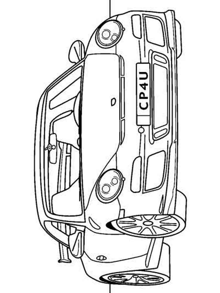 Porsche coloring pages Free Printable