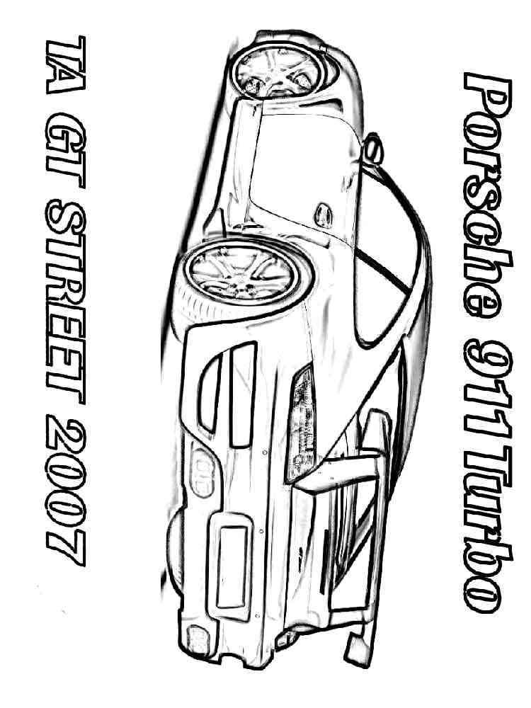 Porsche Logo Coloring Pages Sketch
