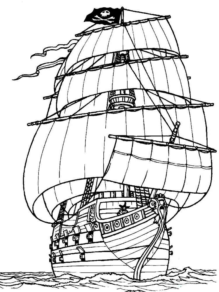 Boats and ships coloring pages download and print boats for Ships coloring pages