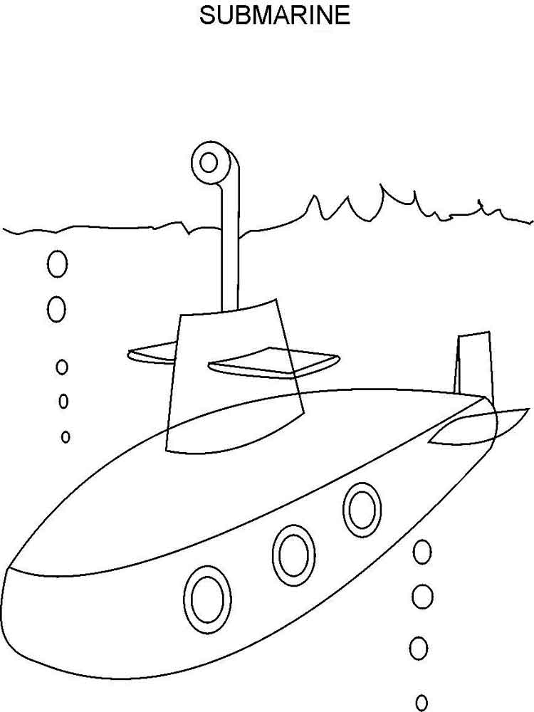 Submarine coloring pages. Free Printable Submarine coloring pages.