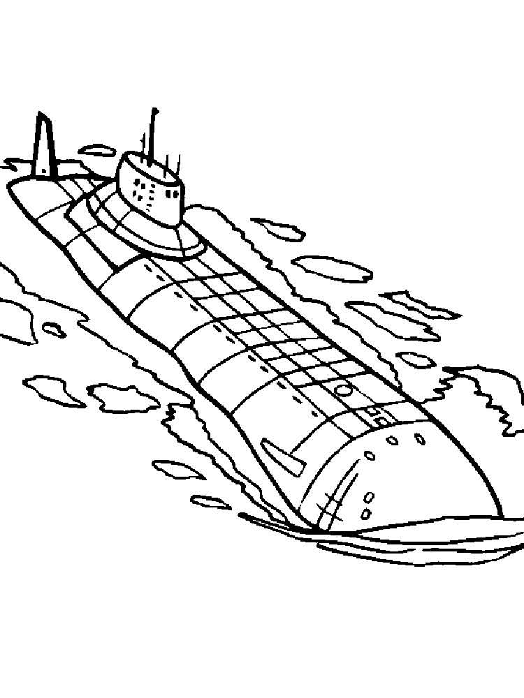 Submarine coloring pages. Free Printable Submarine ...