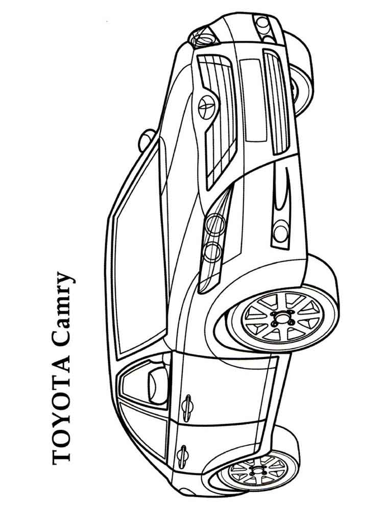 Toyota coloring pages Free Printable
