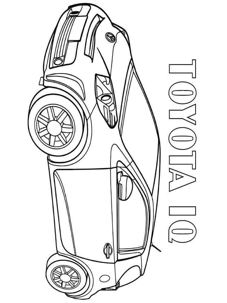 Toyota coloring pages to print ~ Toyota coloring pages. Free Printable Toyota coloring pages.