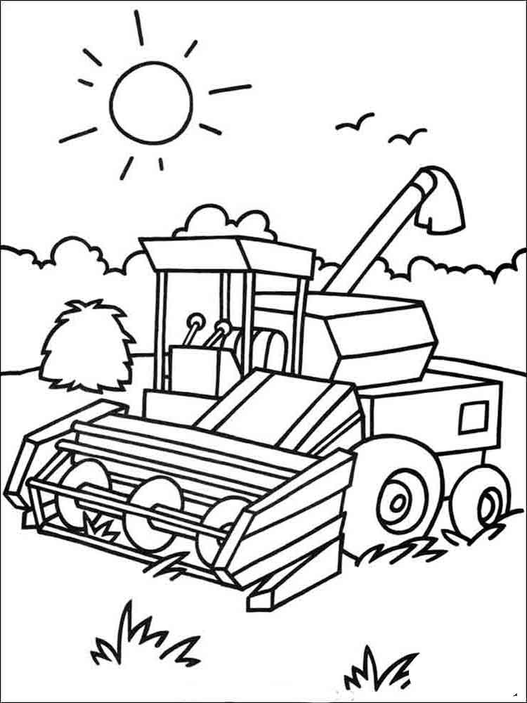 Tractor coloring pages Download