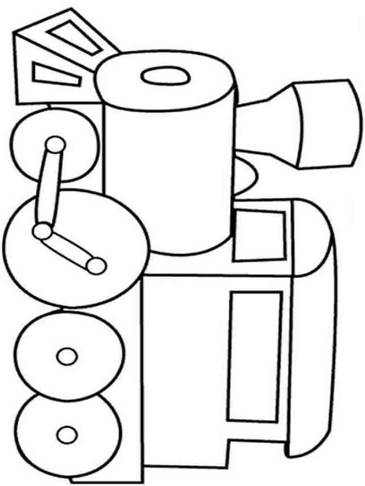 Train coloring pages Download