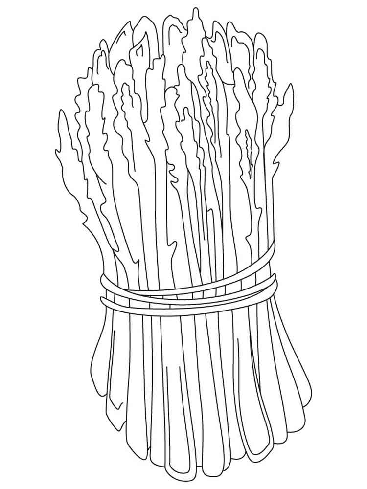Asparagus coloring pages Download