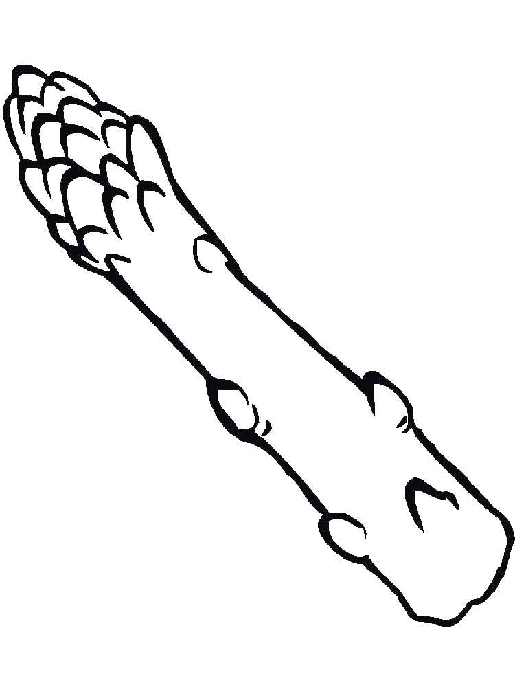 Asparagus coloring pages Download and print Asparagus