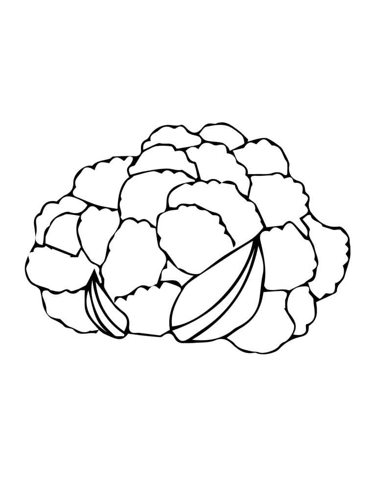 Cauliflower Coloring Pages Download And Print Cauliflower