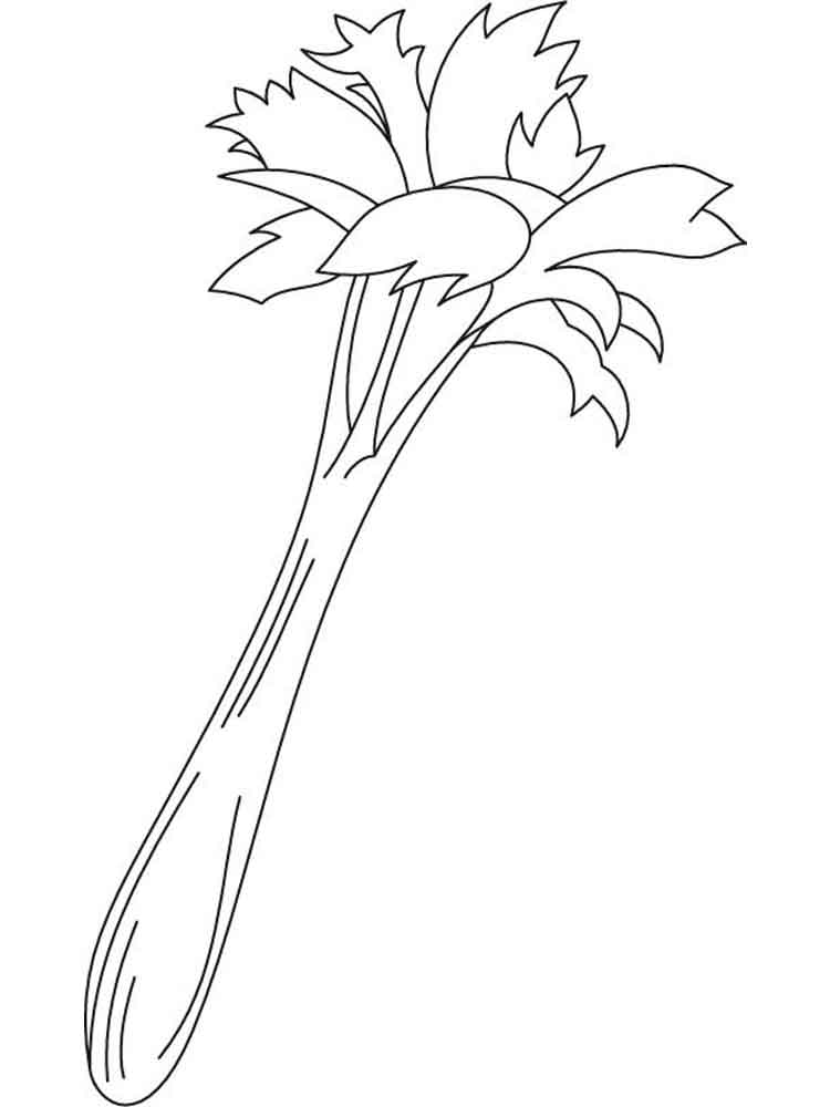 Root Vegetables Coloring Pages