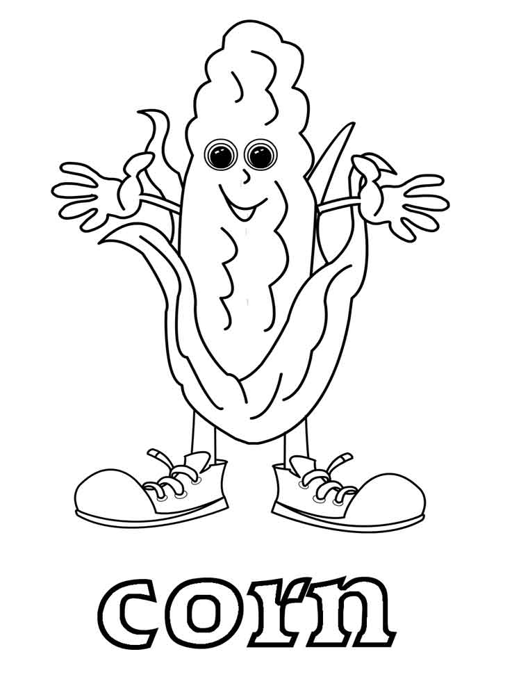 Vegetables Corn Coloring Page 11
