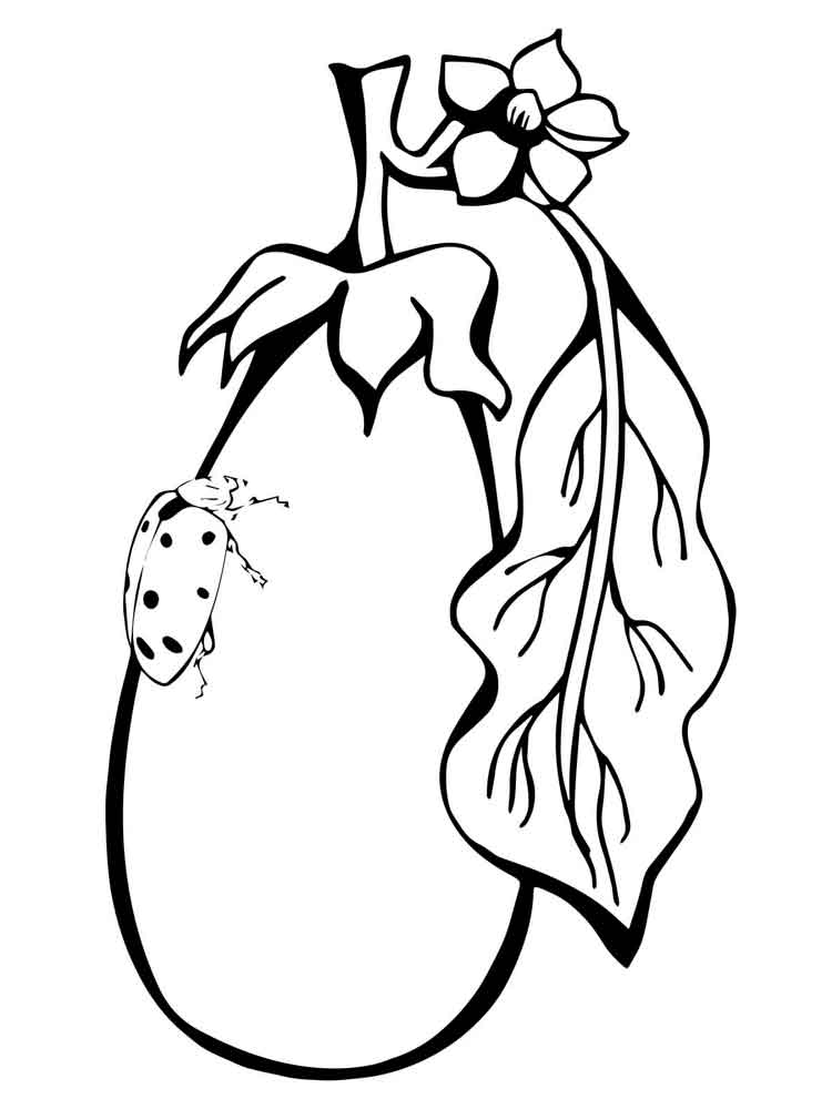 Eggplant coloring pages Download