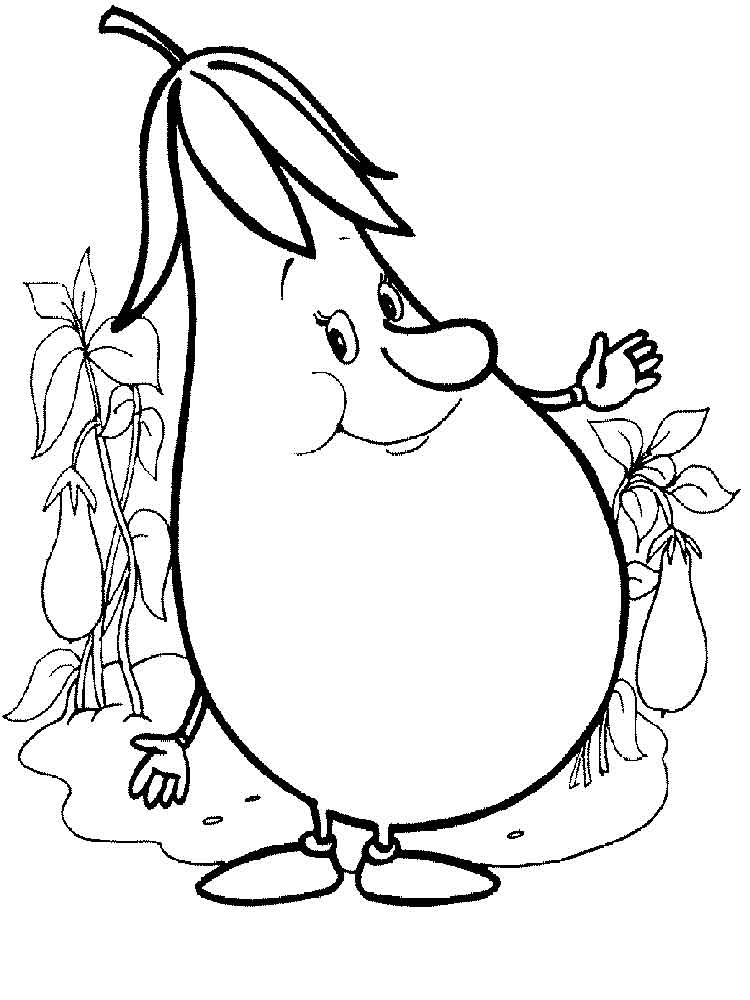 Eggplant coloring pages Download and print Eggplant