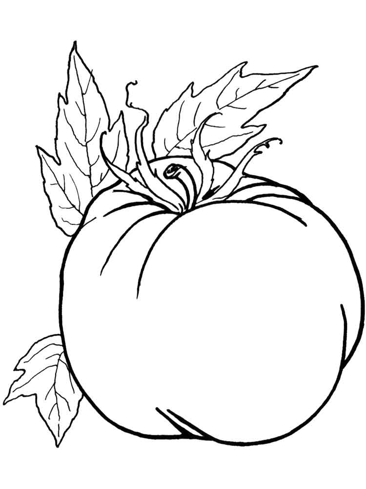 Tomato coloring pages. Download and print Tomato coloring pages