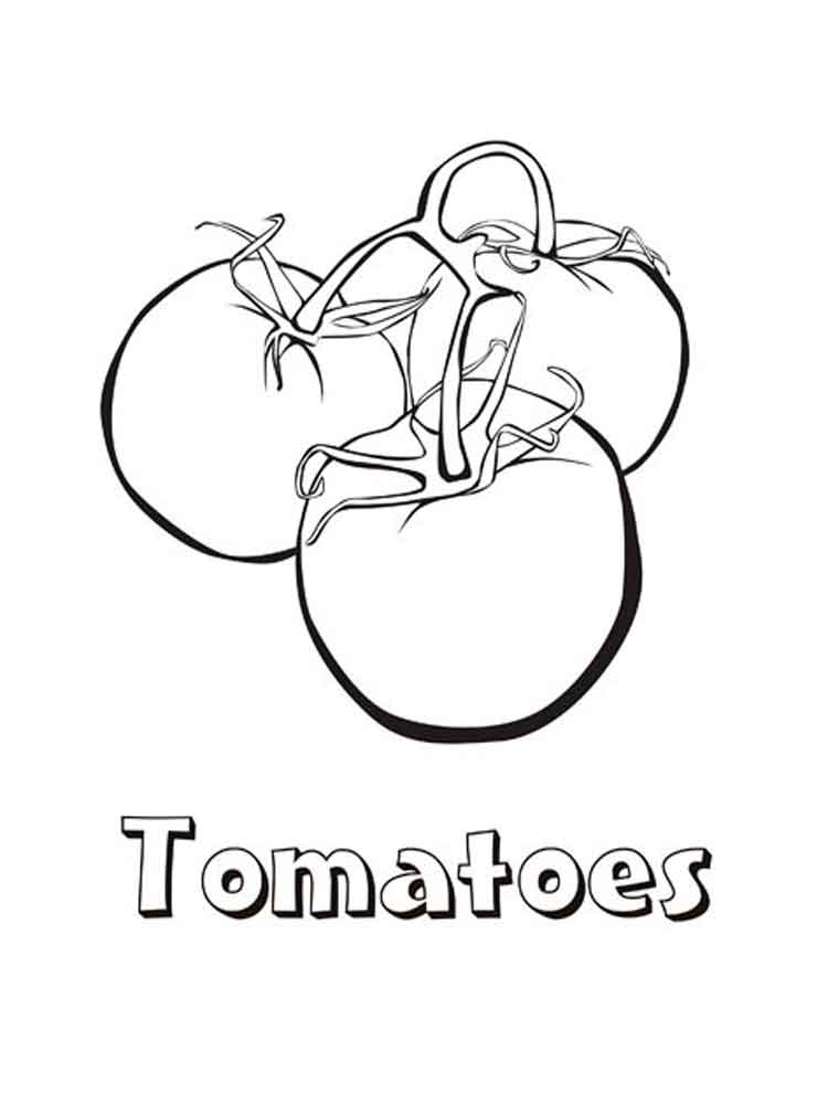 Tomato coloring pages Download and print Tomato coloring