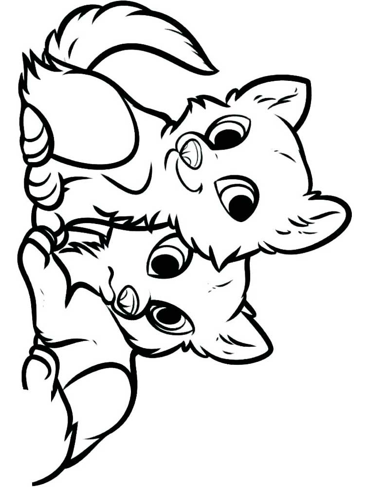 Free Cute Animal coloring pages. Download and print Cute ...