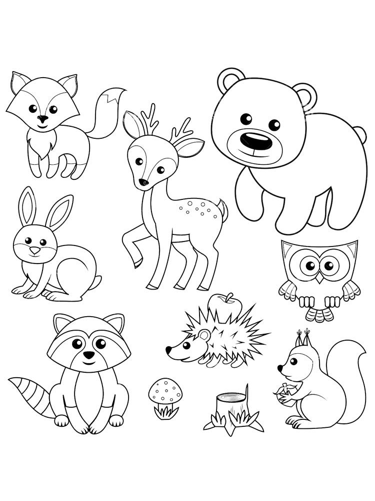 Free Forest Animals coloring pages. Download and print ...