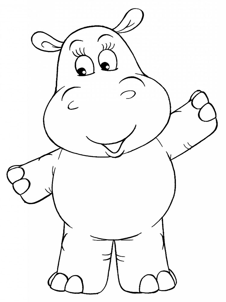 Hippopotamus coloring pages. Download and print ...