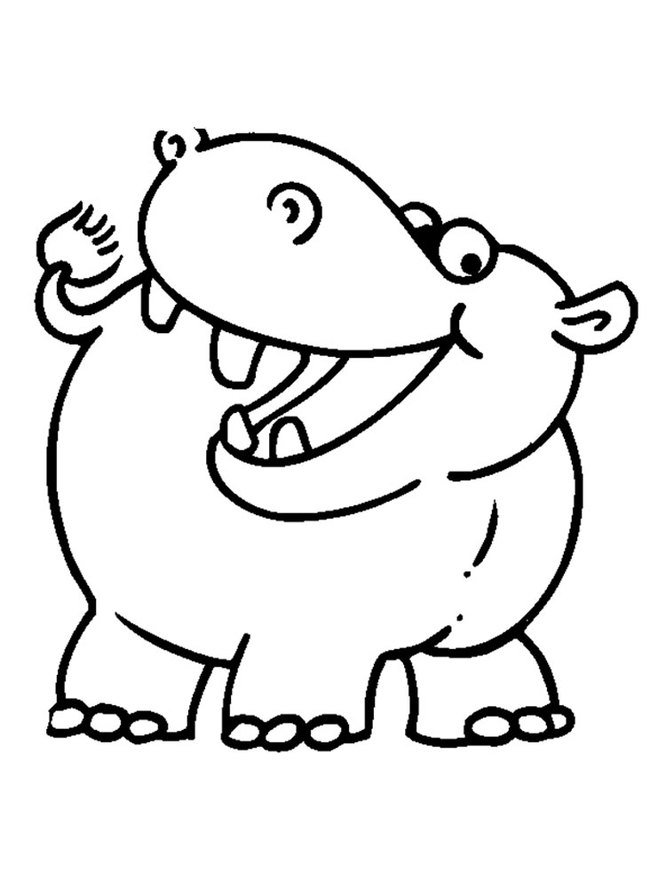 Hippopotamus coloring pages Download and print Hippopotamus