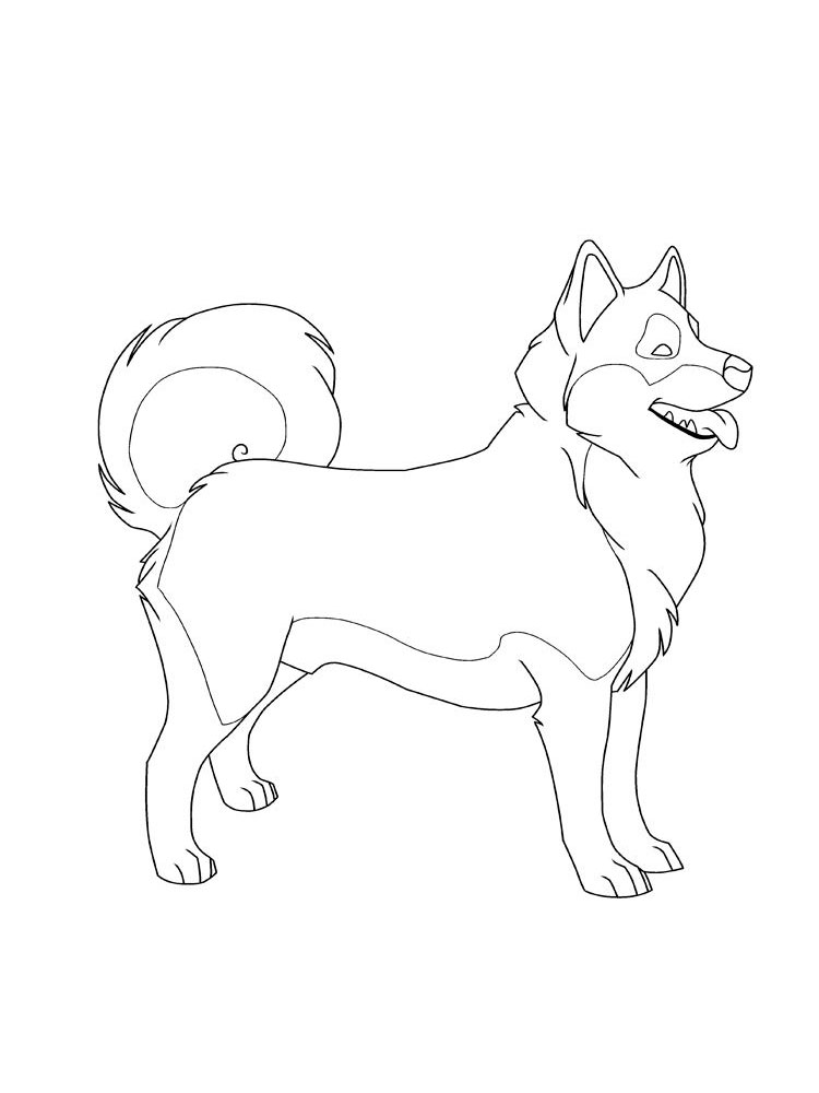 Free Husky coloring pages. Download and print Husky ...