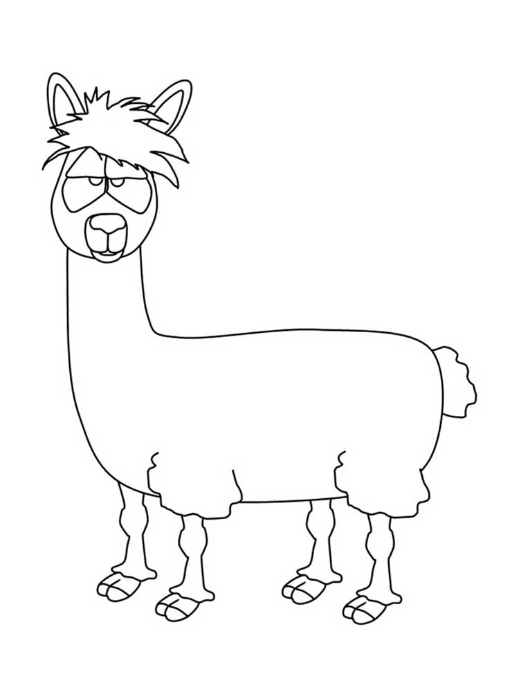 Free Llama Coloring Pages Download And Print Llama Coloring Pages
