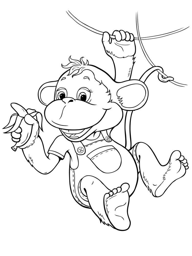 Draw Baby and Monkey Coloring Lessons  YouTube