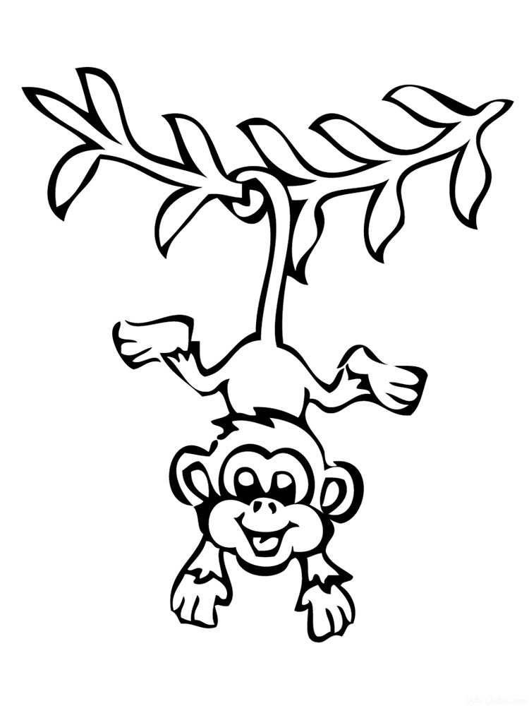 Top 25 Free Printable Monkey Coloring Pages For Kids | 1000x750