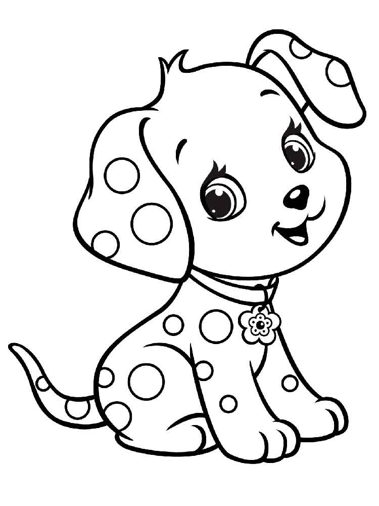 Free Puppy coloring pages. Download and print Puppy ...