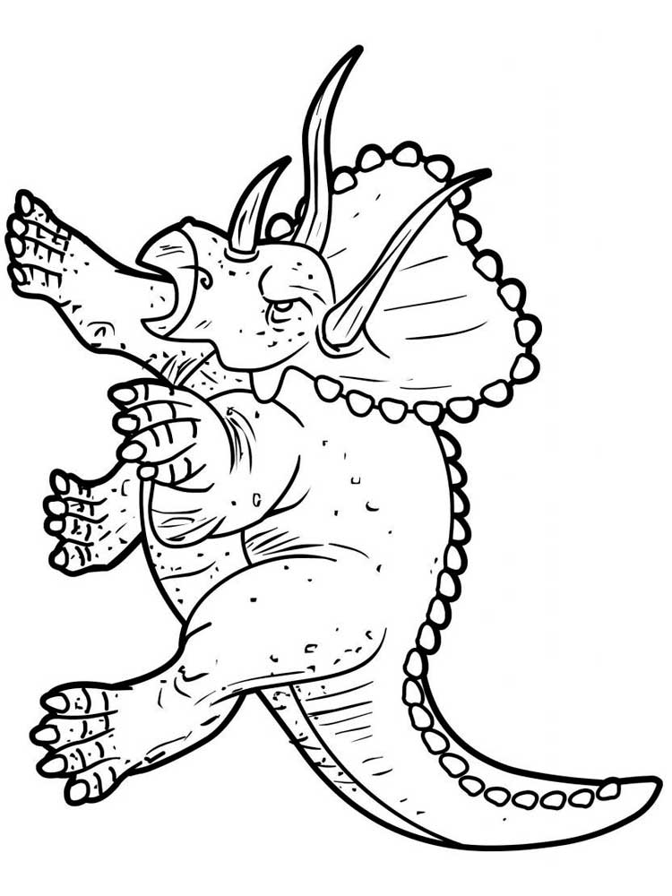 Free Triceratops coloring pages. Download and print ...