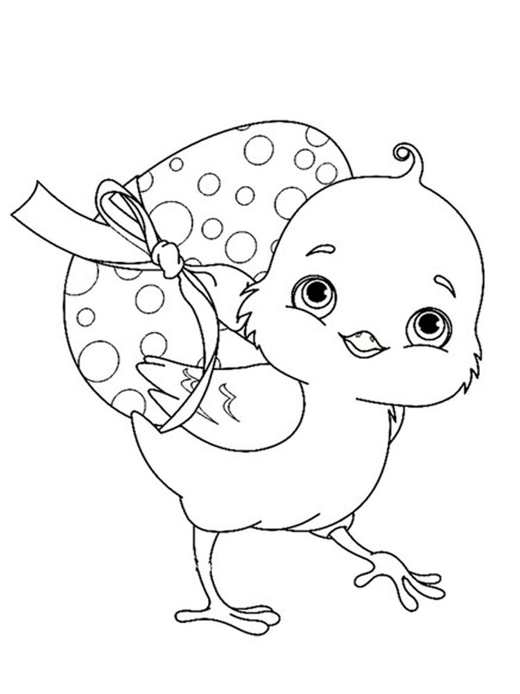 Baby Chick Coloring Pages Download And Print Baby Chick
