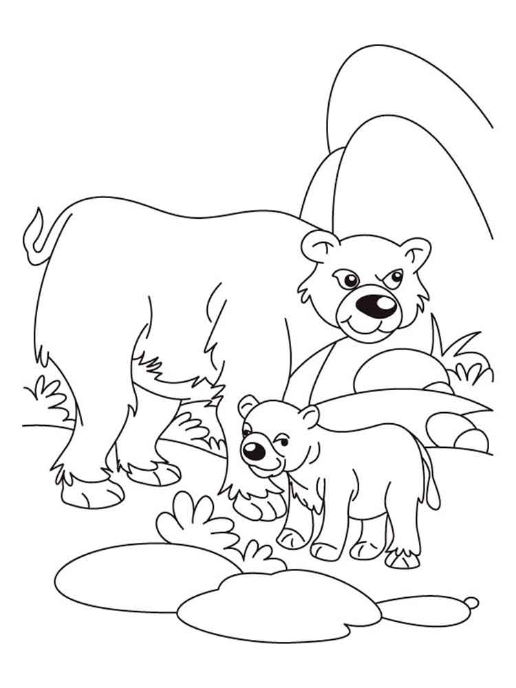 Bear coloring pages download and print bear coloring pages Coloring book 10 baby animals
