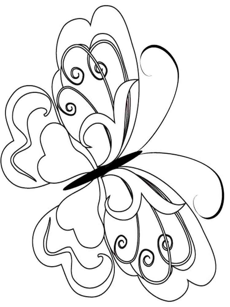 Butterfly coloring pages. Download and print butterfly ...