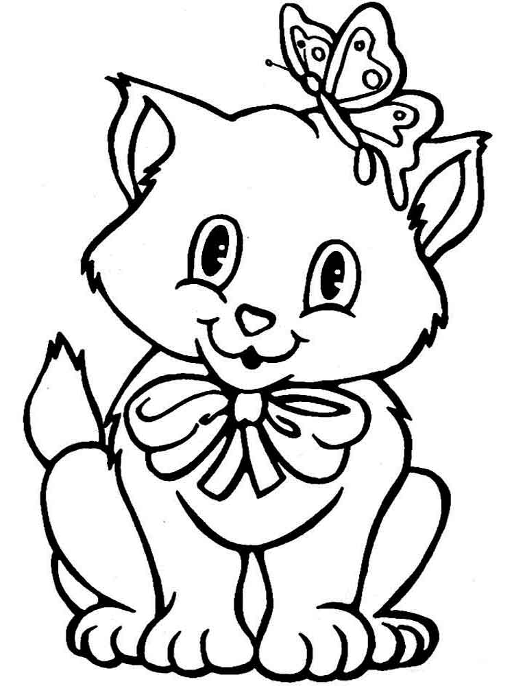 Coloring Pictures Of Cats