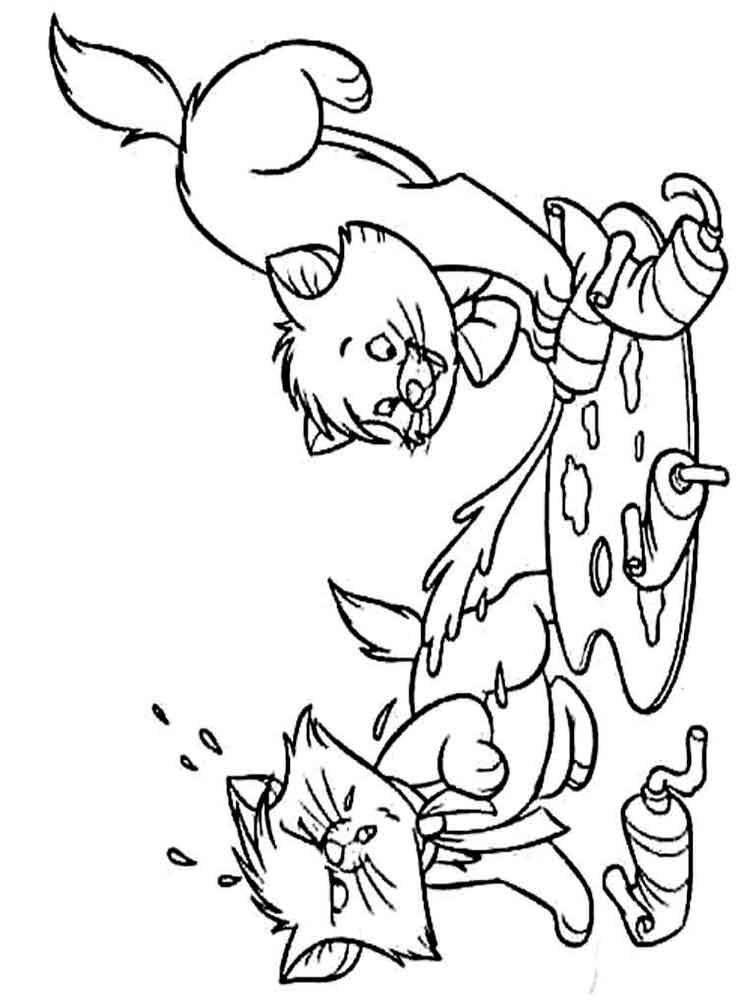 Cats coloring pages Download and print cats coloring pages