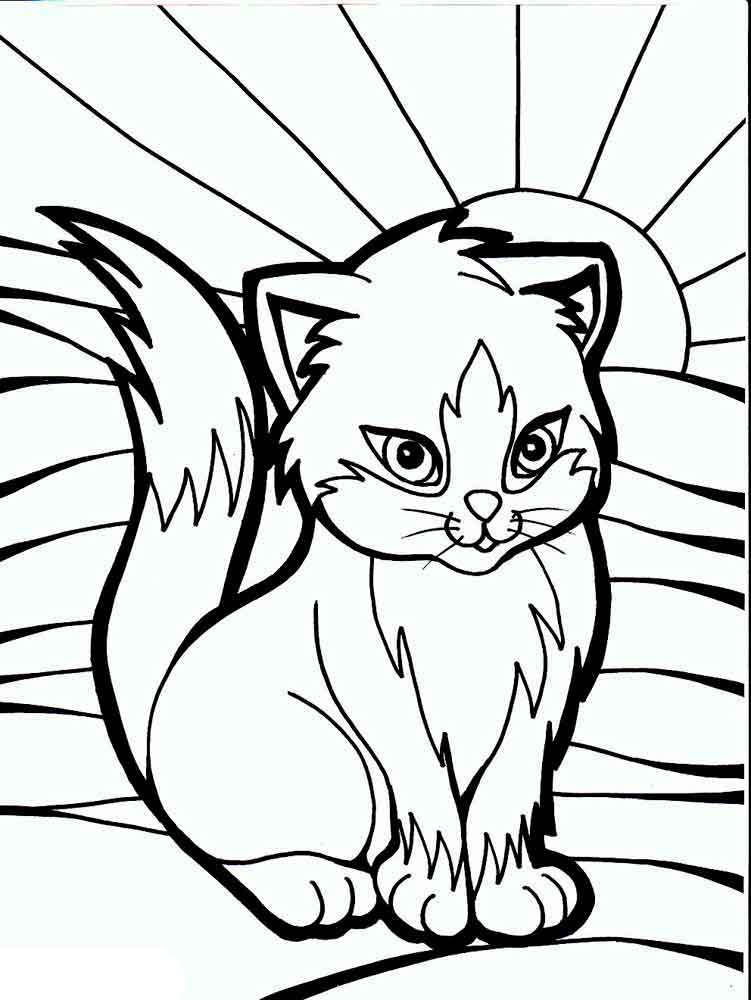 Cats coloring pages download and print cats coloring pages for Printable cat coloring pages