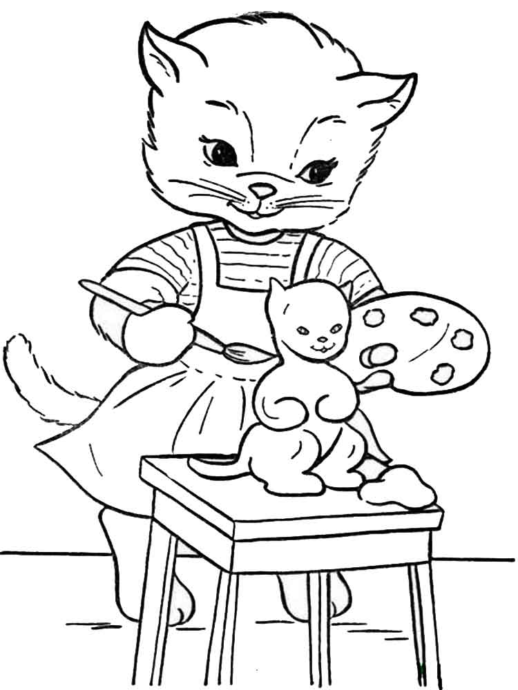 Cats coloring pages. Download and print cats coloring pages