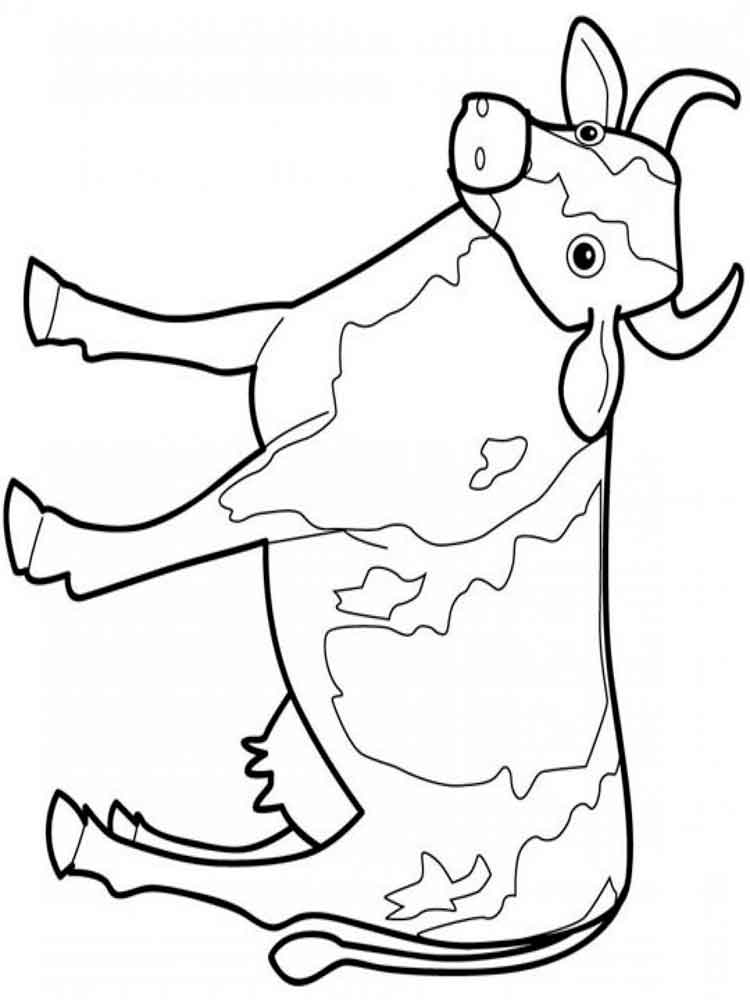 animals cow coloring pages 10 - Cow Coloring Pages