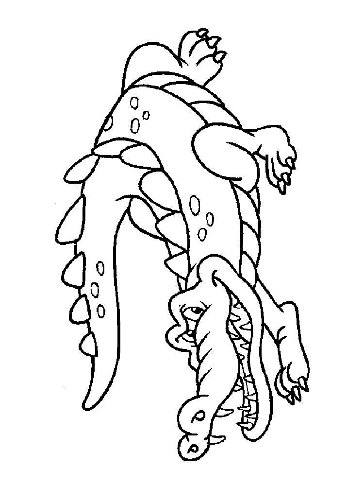 Crocodile coloring pages Download and print crocodile coloring pages