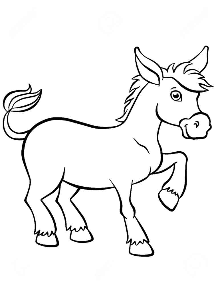 Free Donkey coloring pages. Download and print Donkey ...