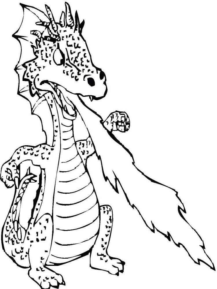 free printable dragons coloring pages - Printable Dragon Coloring Pages