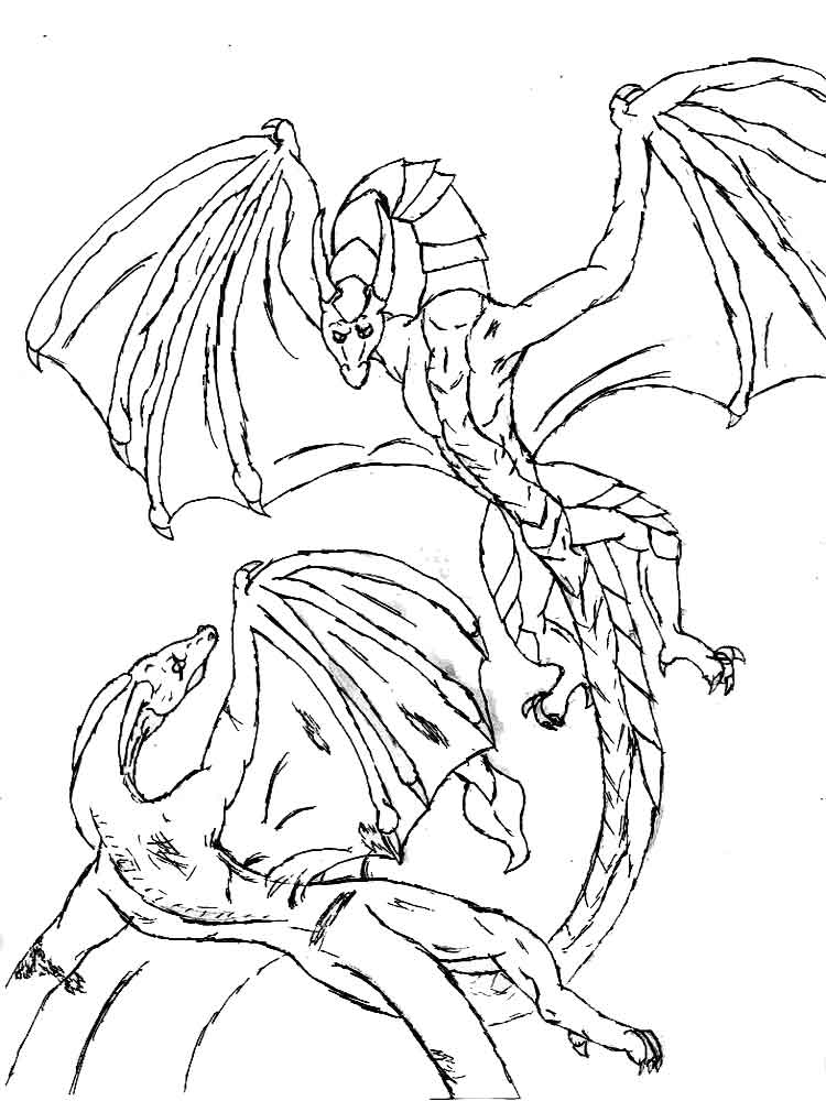 Dragons coloring pages. Download and print dragons ...
