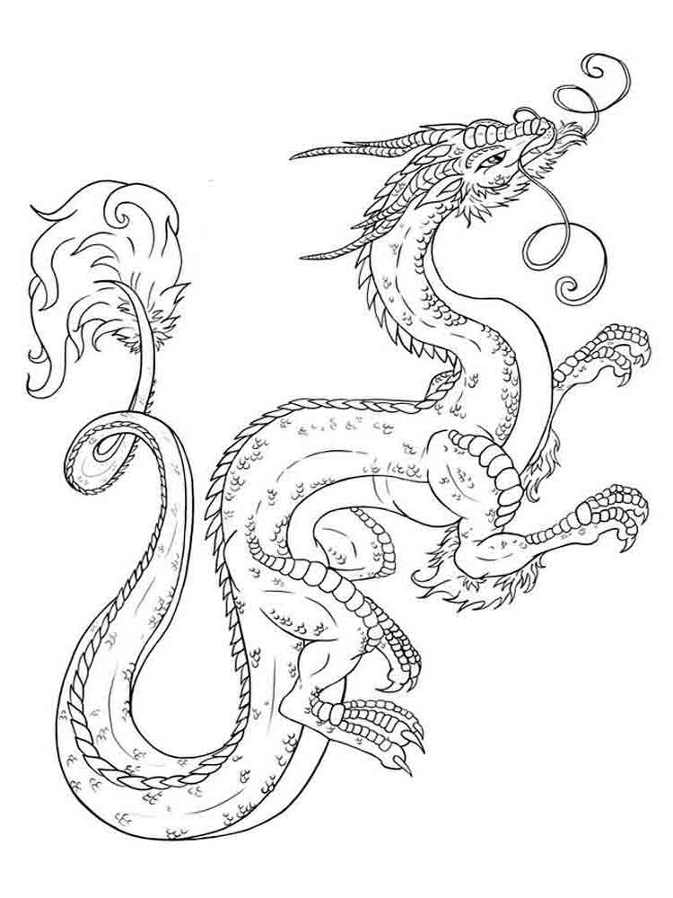 Dragons coloring pages Download