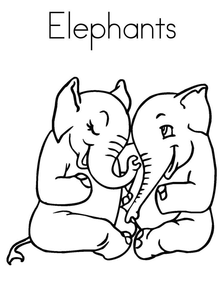 Elephant coloring pages Download and print elephant