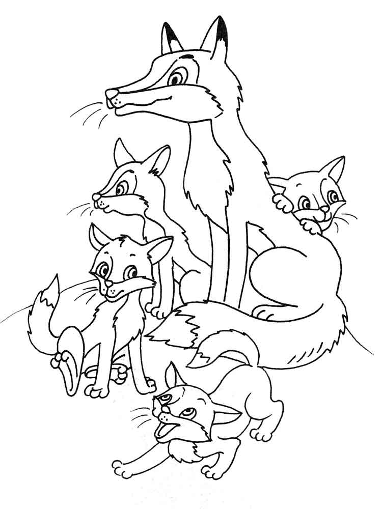 Fox coloring pages. Download and print fox coloring pages