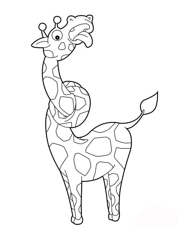 Giraffe coloring pages Download