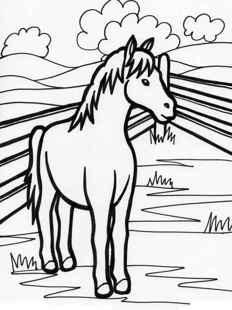 Coloring Pages Animals Horse 15