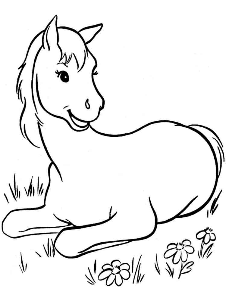 Horses coloring pages Download and print horses coloring