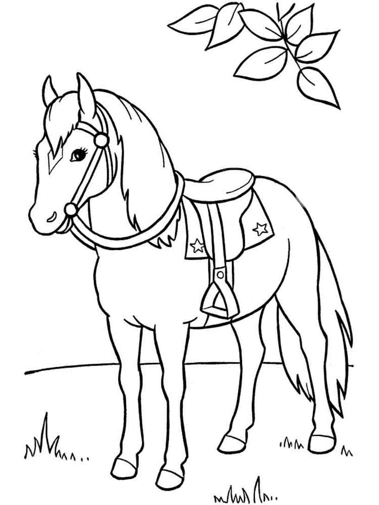 Horses coloring pages. Download and print horses coloring ...